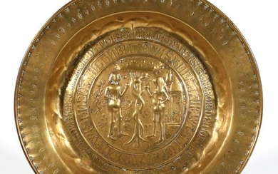 "BRASS ""ALMS"" OR ""ROSE WATER"" DISH (15th Century)"