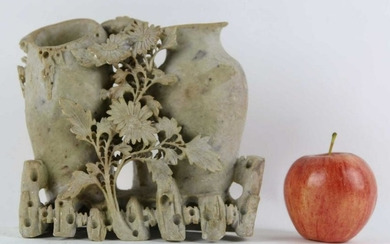 """CHINESE ANTIQUE 7"""" SOAP STONE CARVING"""
