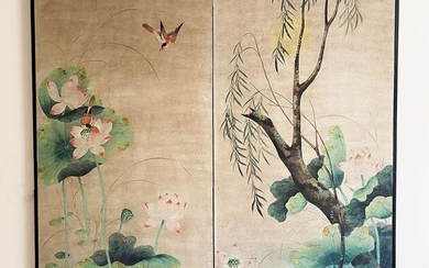 Chines Silk Textile Framed, RM2A