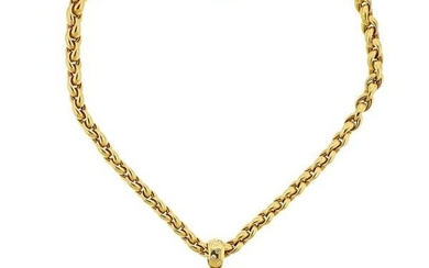 Chopard Happy Diamonds 18k Gold Heart Pendant on Necklace