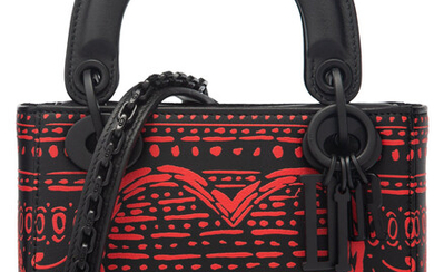 Christian Dior Limited Edition Red & Black Leather Playing...