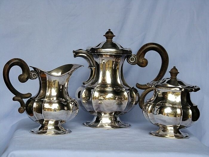 Coffee service - .800 silver - Italy - 1934/1945