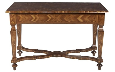 Continental Walnut and Fruitwood Side Table