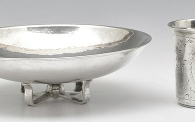 Danish Silver Cup and Footed Bowl.