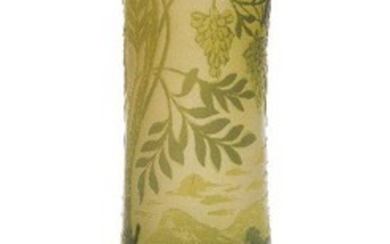De Vez, a French cameo glass vase c.1920, signed in...