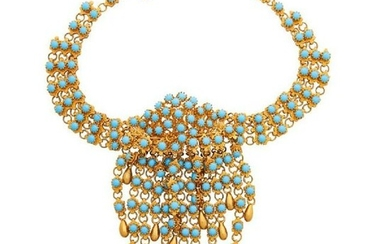 Egyptian Revival Christian Dior Costume Collar Necklace