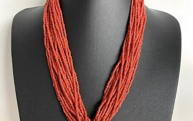 Exquisite Coral Bracelet and Necklace set made from