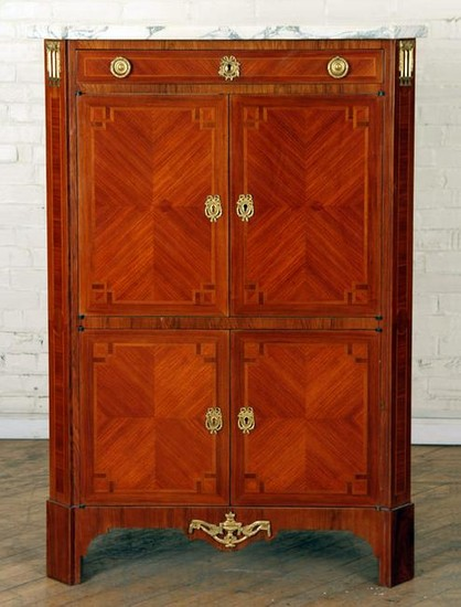 FRENCH REGENCY STYLE MARBLE TOP CABINET C.1920