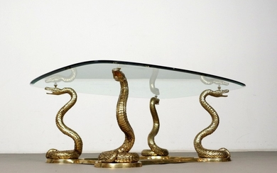 Figural coffee table / coffee table with snakes, France