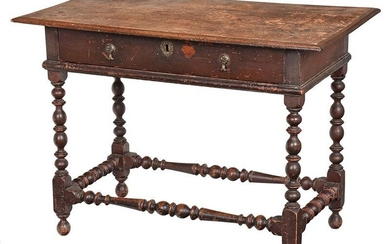 Fine and Rare American William and Mary Table