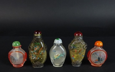 Five (5) Chinese Snuff Bottles