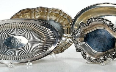 Four Oval Sterling Dishes
