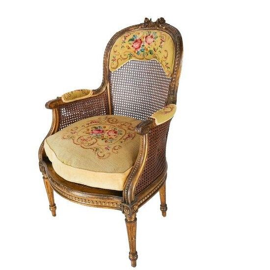 French-Style Slipper Bergere Chair