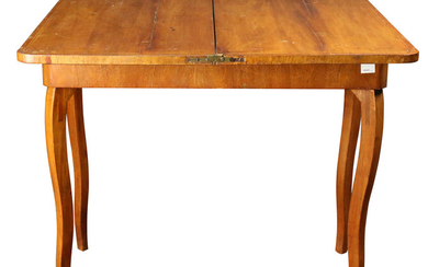 French marquetry decorated flip top table