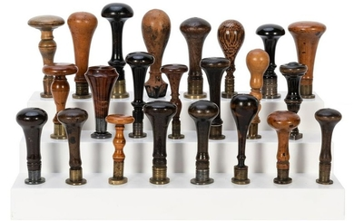 Group of 28 Continental Boxwood and Treen-Handled