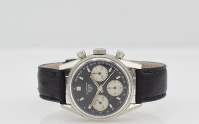 HEUER Carrera reference 2447 chronograph in steel,...