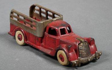HUBLEY Cast Iron Toy Stake Truck