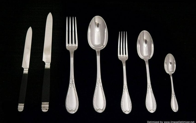LAPPARA FRENCH ANTIQUE STERLING SILVER FLATWARE SET