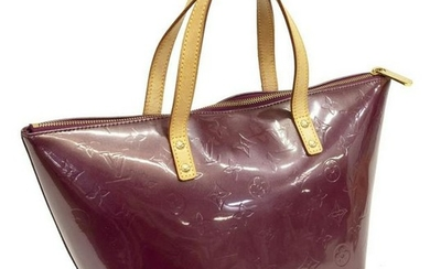 LOUIS VUITTON 'BELLEVUE PM' VERNIS LEATHER HANDBAG