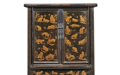Lacquered and gilt cabinet China, early 20th Century