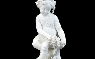 Large Sevres Style Bisque Figurine