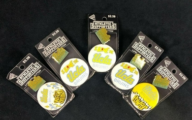 Lot of 5 UCLA Bruins Lapel Pin Button Athletic