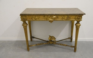 Louis XV period gilded console table (ht 86...