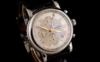 """Montblanc - Meisterstuck GMT Chronograph Automatic - """"NO RESERVE PRICE"""" - 7067 - Men - 2000-2010"""