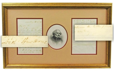 Nathaniel Hawthorne 2x Signed ALS Discussing His Early