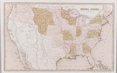 North America, Continental United States, Three Maps: 1830, 1838, and 1844. A series of three maps demonstrating western expansion and