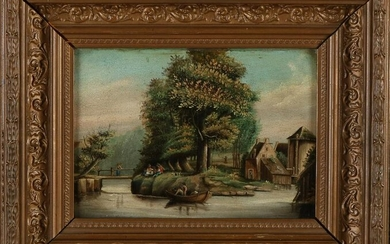 Not signed. 19th century. Landscape with
