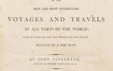 PINKERTON, John (1758–1826). A General Collection of