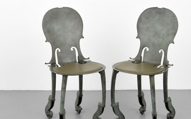 Pair of Arman Violin Bronze Chairs - Arman (aka Armand Pierre Arman/Armand Fernandez) (1928-2005)
