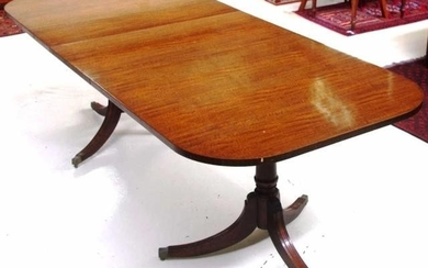 Regency style extension dining table with one leaf. 229cm by...
