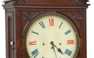 Rosewood 3 Train Gothic Fusee Wall Clock