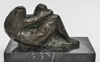 Seated Female Nude Bronze Sculpture