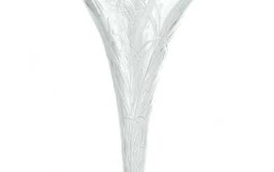 "Stevens & Williams 12"" Rock Crystal Patent Vase"
