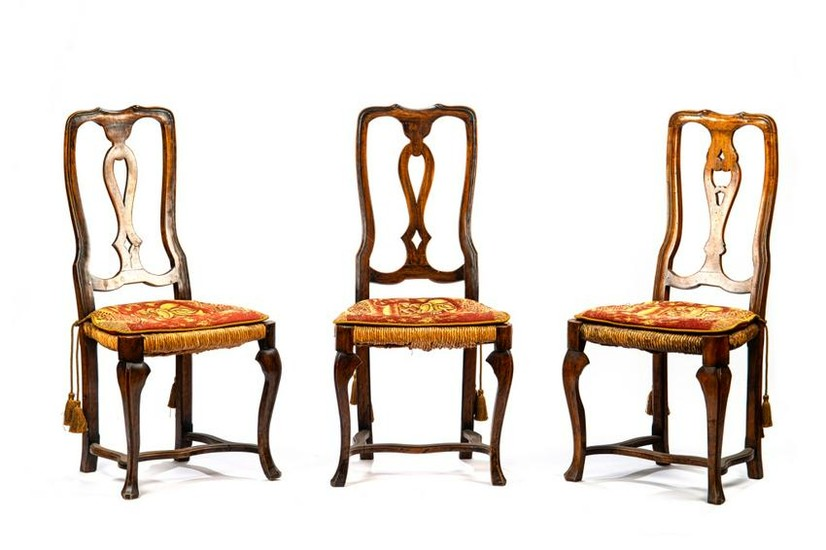 THREE FRENCH PROVINCIAL OCCASIONAL CHAIRS