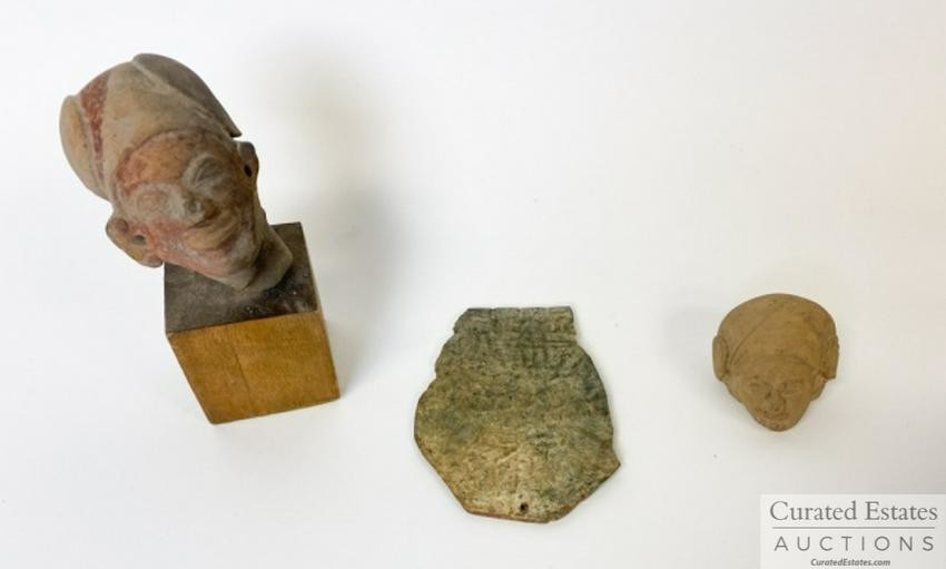 Three Pre Columbian Fragments Gift from Huston