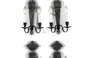 Venetian style two-light wall sconce set (4pcs)