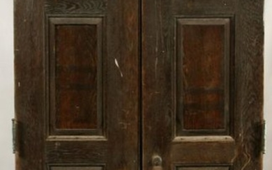 "WOOD PANELED DOORS, H 7'2"", W 23"""
