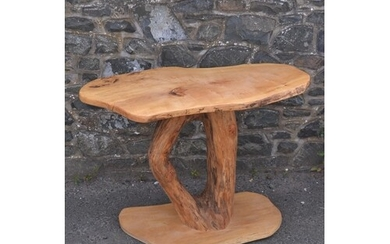 Wood carver Bespoke hand made table made from beautiful elm/...
