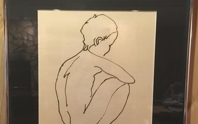 20th C Michel Russo Signed Lithograph of Boy