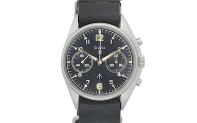 CWC. A stainless steel manual wind military chronograph pilots wristwatch issued to the RAF