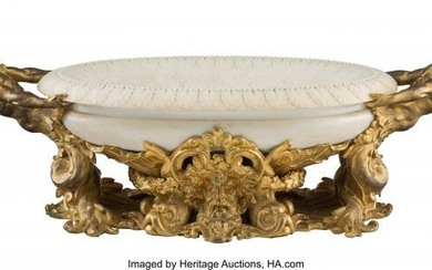 61096: A Gilt Bronze Mounted Marble Centerbowl, 20th ce