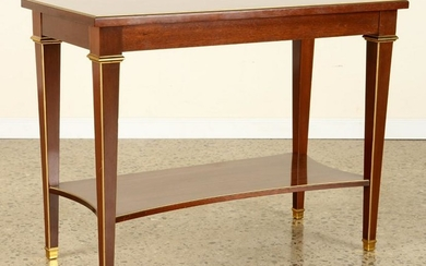 MAHOGANY BRASS MOUNTED SIDE TABLE DIRECTOIRE