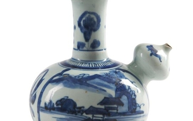 A JAPANESE BLUE AND WHITE ARITA WARE KENDI EDO PERIOD (1603-1868), 1670-1690 The De Voogd Collection