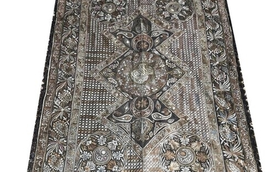 A LARGE TURKISH OTTOMAN WALL HANGING Finely woven with scri...
