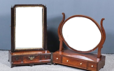 A Mid 18th Century Mahogany Framed Toilet Mirror and...