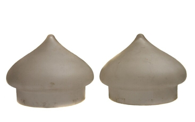 A PAIR OF ANTIQUE RUSSIAN LAMP SHADES